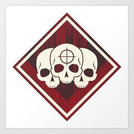 Triple Triple Achievement Badge from Apex Legends Art Print