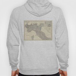 Vintage Map of Northern Italy (1861) Hoody