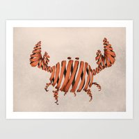 crab Art Prints featuring Crab by Claire.H