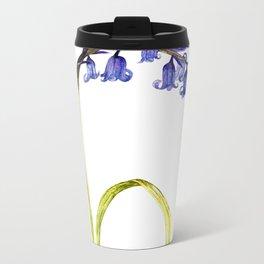 Ink Bluebell Painting Metal Travel Mug