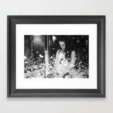 portrait with flying balls Framed Art Print