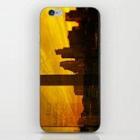 minneapolis iPhone & iPod Skins featuring golden minneapolis by sara montour