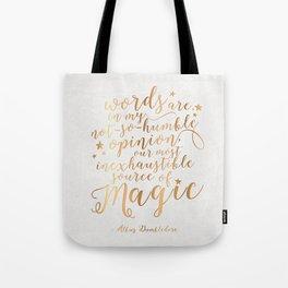 Dumbledore's Magic Words Tote Bag
