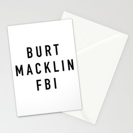 Burt Macklin FBI Stationery Cards