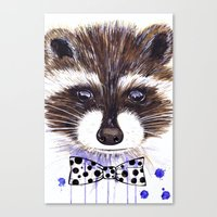 raccoon Canvas Prints featuring Raccoon by Iskoskikh Sveta