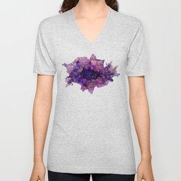 """""""Purple and Violet Agate Crystal"""" Unisex V-Neck"""