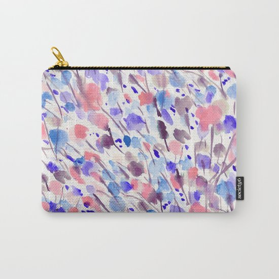 Wild Nature (Apricot, Blue) Carry-All Pouch