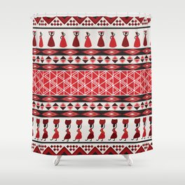 African Tribal Pattern No. 85 Shower Curtain
