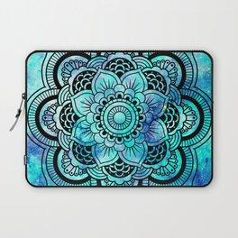 Galaxy Mandala Aqua Indigo Laptop Sleeve