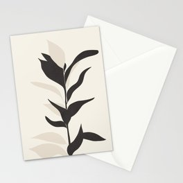 Abstract Minimal Plant Stationery Cards