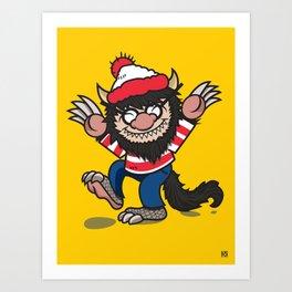 Waldo Things Art Print