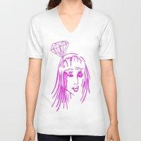 nicki V-neck T-shirts featuring cronart by cronart