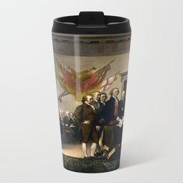 Signing The Declaration Of Independence Metal Travel Mug