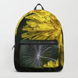 Dandelion flower and seed Backpack