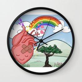 Just a Bleeding Heart at Heart Wall Clock