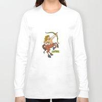 sagittarius Long Sleeve T-shirts featuring Sagittarius by Antoons
