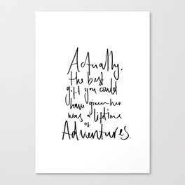 Aventure Quote - Alice in Wonderland Canvas Print