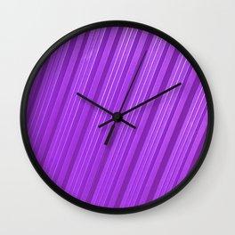 Stripes II - mauve Wall Clock