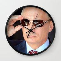 putin Wall Clocks featuring mr.Putin by Mikhail Zhirnov