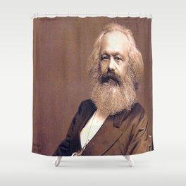 Portrait of Karl Marx by John Jabez Edwin Mayal Shower Curtain