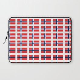 flag of norway,snow,scandinavia,scandinavian, norwegian,oslo Laptop Sleeve