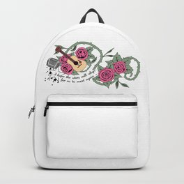Rose Quartz Tattoo Version 5 Backpack