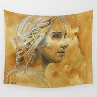 woman Wall Tapestries featuring Woman by Catru