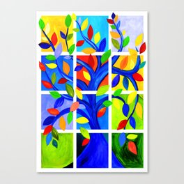 Tree of Life, bright colors Canvas Print