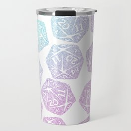 d20 pattern dice gradient pastel Travel Mug