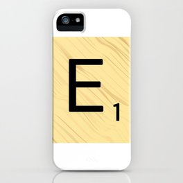 Scrabble E Decor, Scrabble Art, Large Scrabble Prints, Word Art, Accessories, Apparel, Home Decor iPhone Case