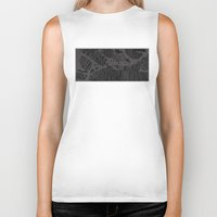 stockholm Biker Tanks featuring Stockholm by Malin Erixon