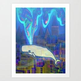 Cachalote in Atlantis 03-08-16 Art Print