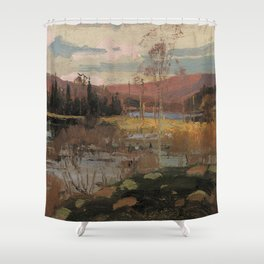 Tom Thomson - Spring in Algonquin Park - Canada, Canadian Oil Painting - Group of Seven Shower Curtain