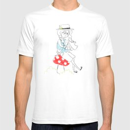 Girl drawing. T-shirt