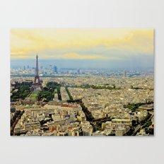Above Paris Canvas Print