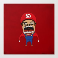 Screaming Mario Canvas Print