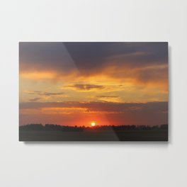 sunset sunset sundown Metal Print