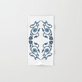 Blue Paisley Double Heart 1 Hand & Bath Towel