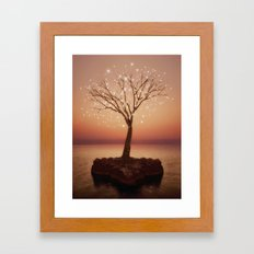 The Strong Grows In Solitude (Tree of Solitude) Framed Art Print