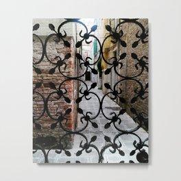 Venetian metalwork on door Metal Print
