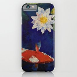 Kohaku Koi and Water Lily iPhone Case