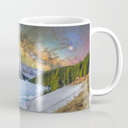 Milky way over Clinton reservoir Coffee Mug