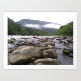 A Day Spent On The Rocks Art Print