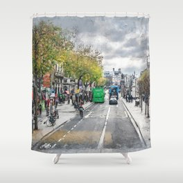 Dublin art #dublin Shower Curtain