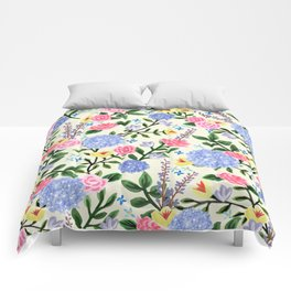 French Country Garden Print Comforters