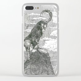 La cabra que pensa Clear iPhone Case