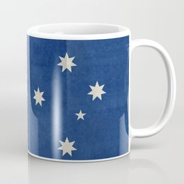 "Australian flag, retro ""folded"" textured version (authentic scale 1:2) Coffee Mug"