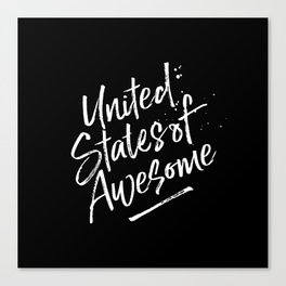 United State of Awesome Canvas Print
