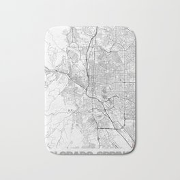 Colorado Springs Map Line Bath Mat