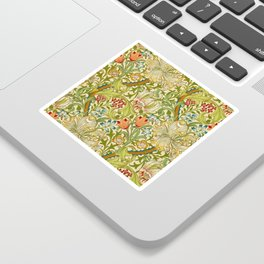 William Morris Golden Lily Vintage Pre-Raphaelite Floral Art Sticker